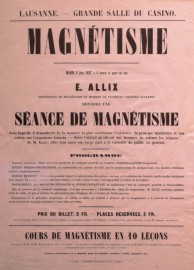 Advertisement poster, 1857