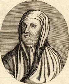 An engraving of Avicenna