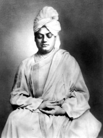 Swami Vivekananda practicing yoga