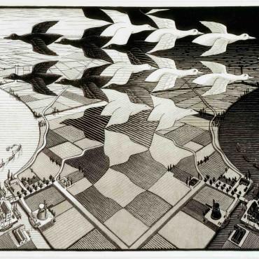 Day and Night - M.C. Escher, 1938