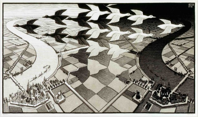 Day and Night - M.C. Escher, 1938