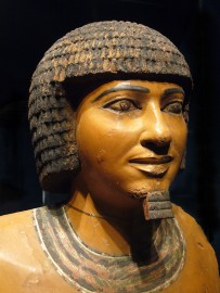 Photo - a statue of Imhotep from the Imhotep Museum in Egypt