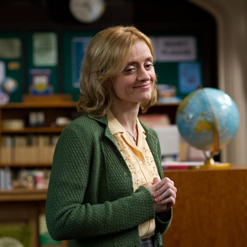 Anne-Marie Duff as Lucy the librarian