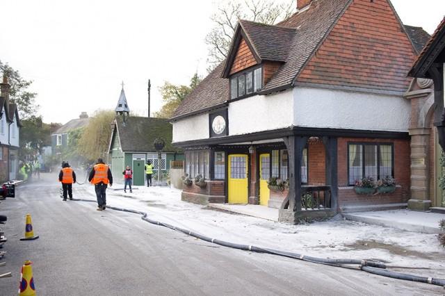 Fake snow scene #2
