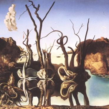 Swans Reflecting Elephants - Salvador Dali, 1937