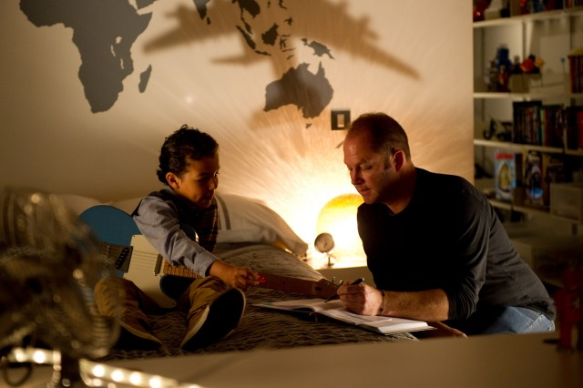 Photo - Chris talks to Jadon