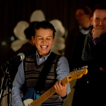 Photo - Jadon plays guitar