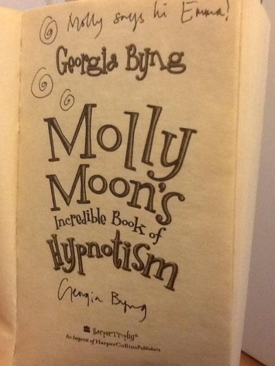 Molly Moon book signing photo