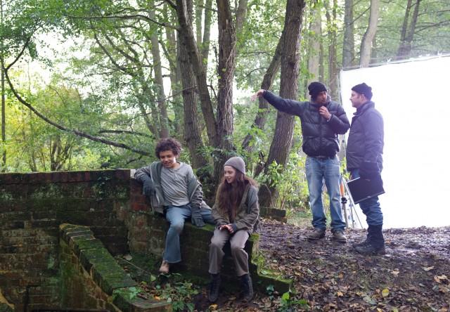 Jadon & Raffey in the woods