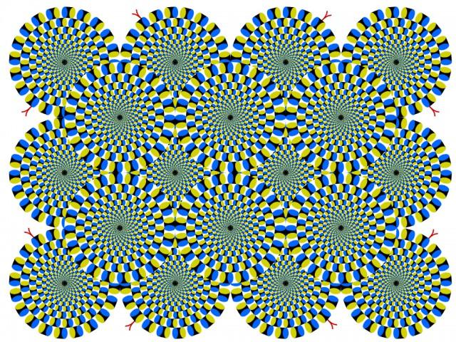 Rotating Snakes - Akiyoshi Kitaoka, 2003