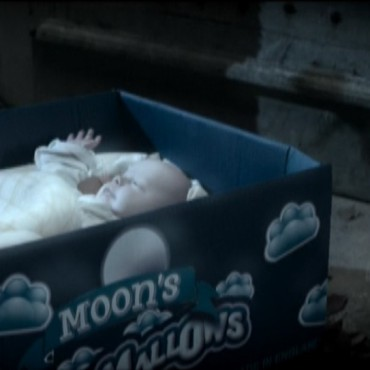 Molly Moon - baby in marshmallow box still from movie
