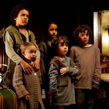 Hardwick House - children huddling - still from the movie