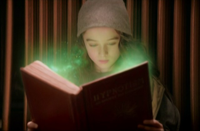 Video Effects - green dust from rises from the book - still from the movie