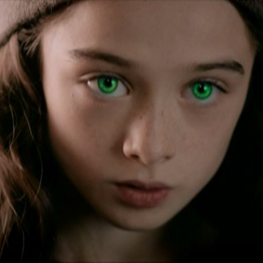 Molly's hypnotic stare - still from the movie