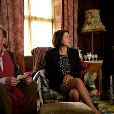 Mr and Mrs Alabaster visit Hardwick House - still from the movie
